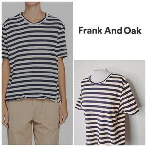 FRANK AND OAK Striped Organic Cotton T-Shirt